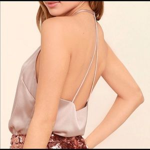 Blush satin cami